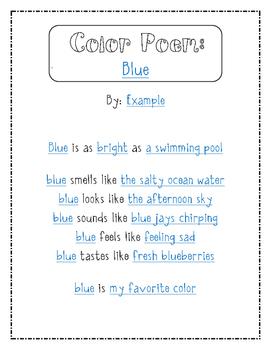 Color Poem {Poetry Freebie}