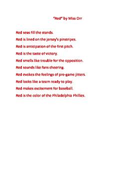 Colour poem template.