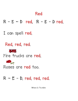 Color Poems Packet