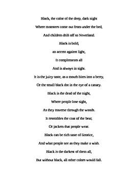Color Poetry Exemplar