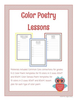 Color Poetry Library Lessons