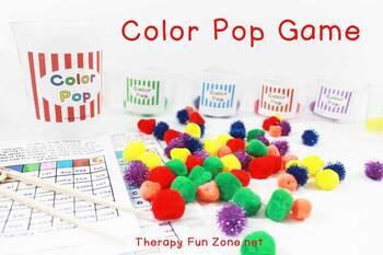 Color Pop Game for fine motor skills