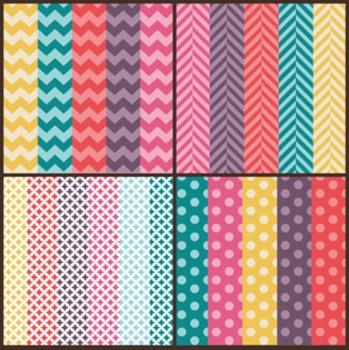 Color Pop Seller Pack ~ Digital Papers, Frames, & Page Elements