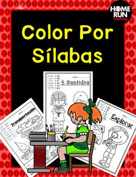 Color Por Sílabas/Color by Syllables in Spanish