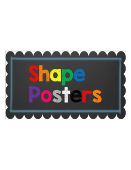 Color and Shape Posters ~~ Chalkboard and Blue