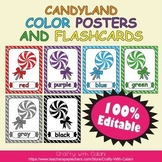 Color Poster Classroom Decor in Candy Land Theme - 100% Editable