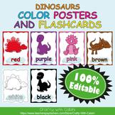 Color Poster Classroom Decor in Cute Dinosaurs Theme - 100% Editble