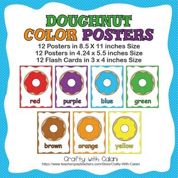 Color Poster Classroom Decor in Cute Doughnut Drawing
