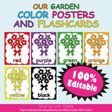 Color Poster Classroom Decor in Flower & Bugs Theme - 100% Editble