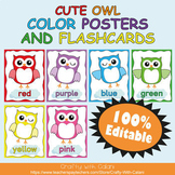 Color Poster Classroom Decor in Owl Theme - 100% Editable