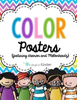 Color Poster FREEBIE {featuring Chevron and Melonheadz Kidletts}