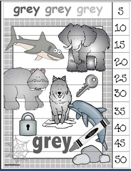 Color Poster Number Puzzles