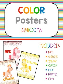 Color Poster - Unicorn