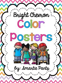 Bright Chevron Color Posters