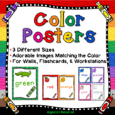 Color Posters: 3 Different Sizes - For Walls, Flashcards, and Workstations