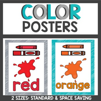 Color Posters in Teal and Gray