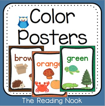 Owl Theme Color Posters