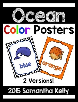 Ocean Animal Color Posters