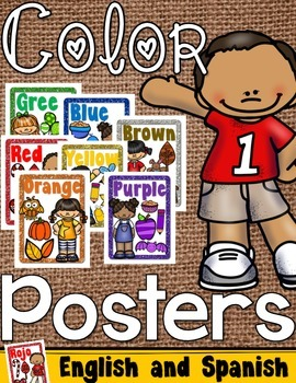 Color Posters English and Spanish