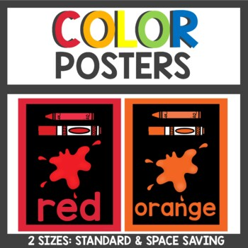 Bright Color Posters in Neon and Black