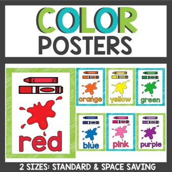 Color Posters in lime and teal