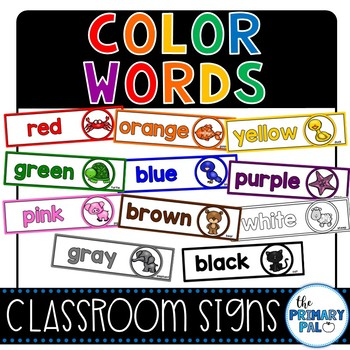 Color Words Signs