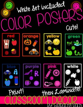 Color Posters Bright and Coloful