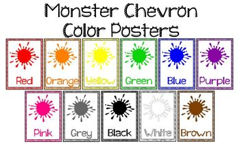 Monster Chevron Color Posters