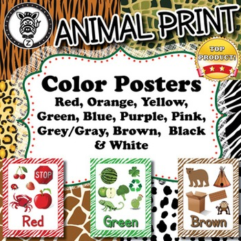 Color Posters  - Animal Print - ZisforZebra - Editable!