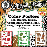 Color Posters  - Animal Print - ZisforZebra - Editable!