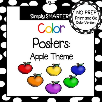 Color Posters:  Apple Theme
