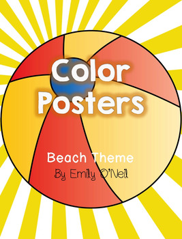 Color Posters (Beach Theme)
