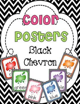 Color Posters {Black Chevron}