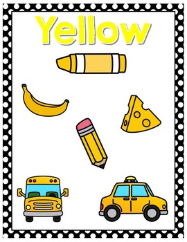 Color Posters Black Polka Dot Classroom Decor