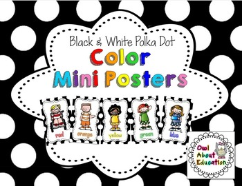 Color Posters {Black & White Polka Dot}