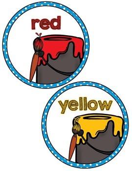 Labels: Color Posters- Blue