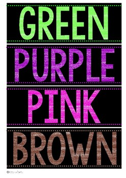 Color Posters | Bright and Bold