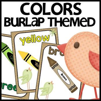 Color Posters (Burlap)