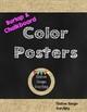 Color Posters *Burlap & Chalkboard Theme
