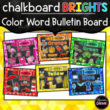 Color Posters- Chalkboard Brights Classroom Decor