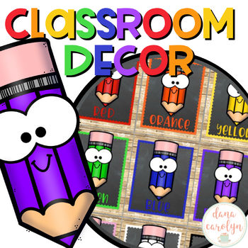 Color Posters {Chalkboard and Rustic Wood Classroom Theme}