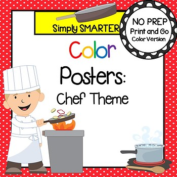 Color Posters:  Chef Themed