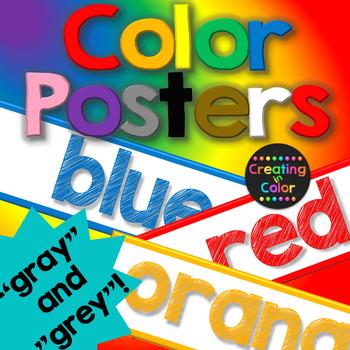 Color Posters - Classroom Decor