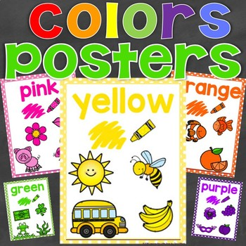 Color Posters, Colors Posters (Learning Colors)