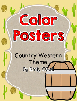Color Posters (Country Western Theme)