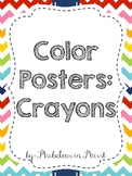 Rainbow Chevron Color Posters (Crayons)