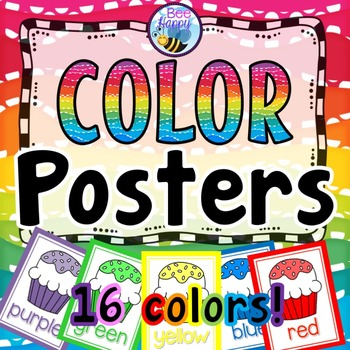 Color Posters Cupcakes