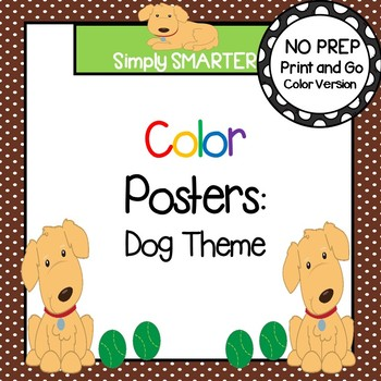 Color Posters:  Dog Theme