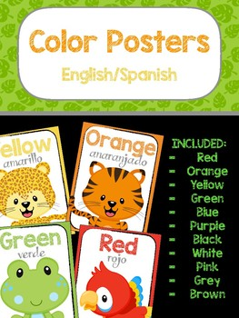 Color Posters - English/Spanish