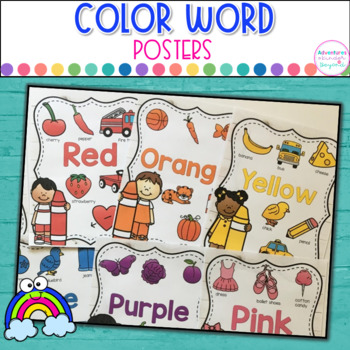 Color Word Posters- Farmhouse Decor